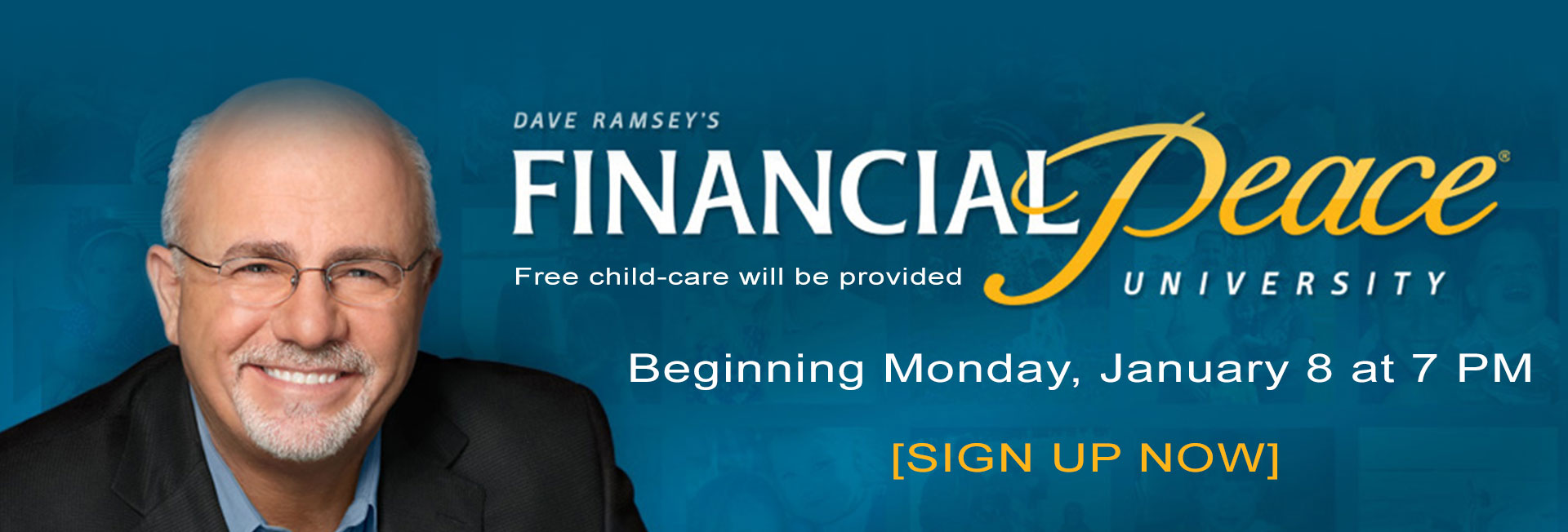 Financial Peace University classes start Monday, January 8 at 7 PM [sign up]
