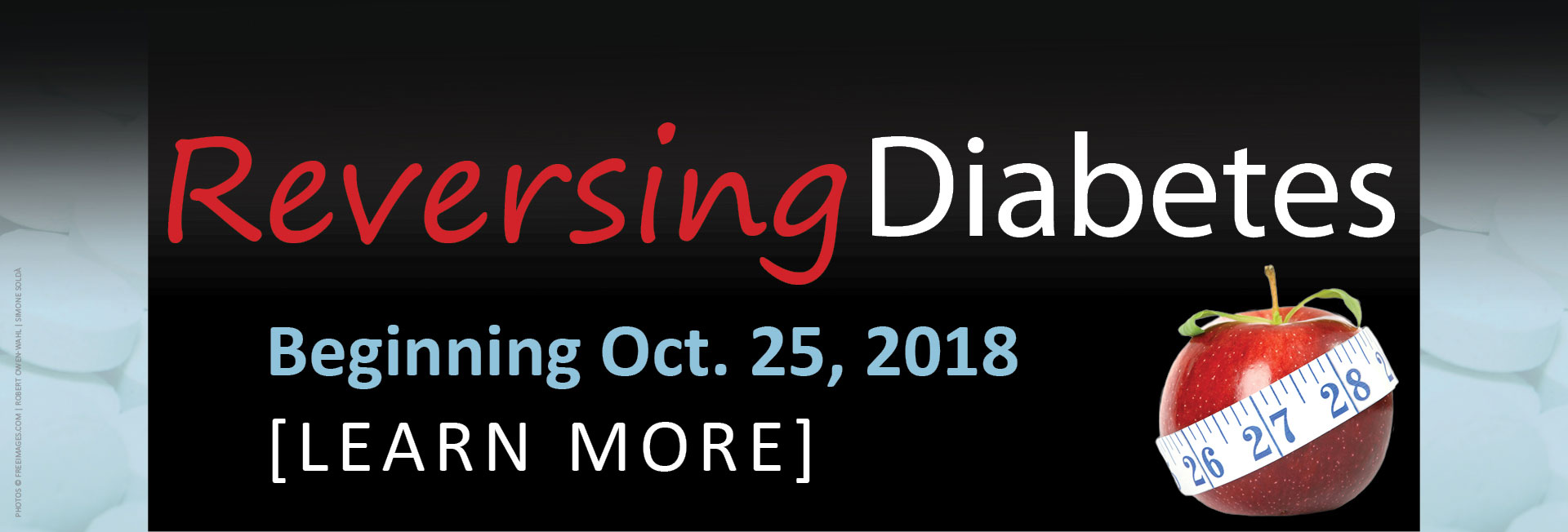 Reversing Diabetes - 6 Sessions - Begins October 25 at 6:30pm