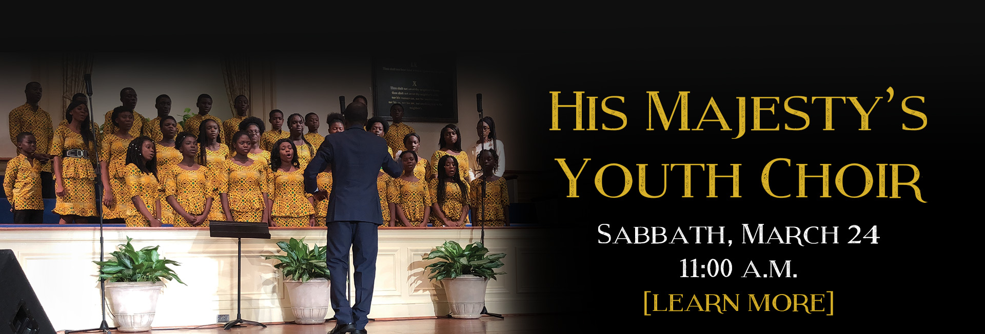 His Majesty's Youth Choir - Sabbath March 24 11 am