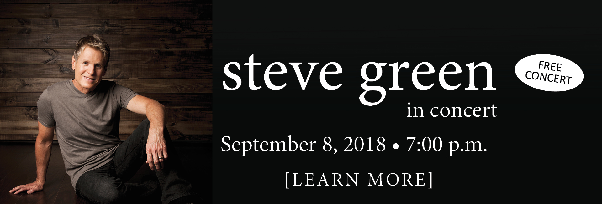 Steve Green Concert Saturday September 8 at 7pm